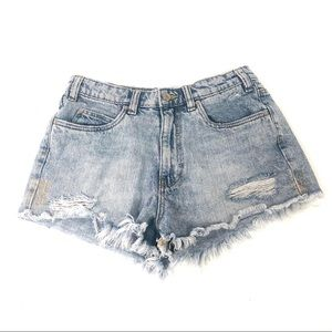 Zara Vintage distressed cut off high waisted short